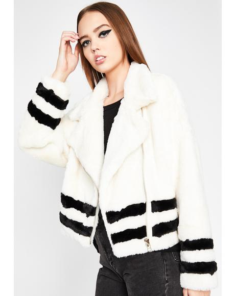 Blanc Double The Trouble Fuzzy Coat