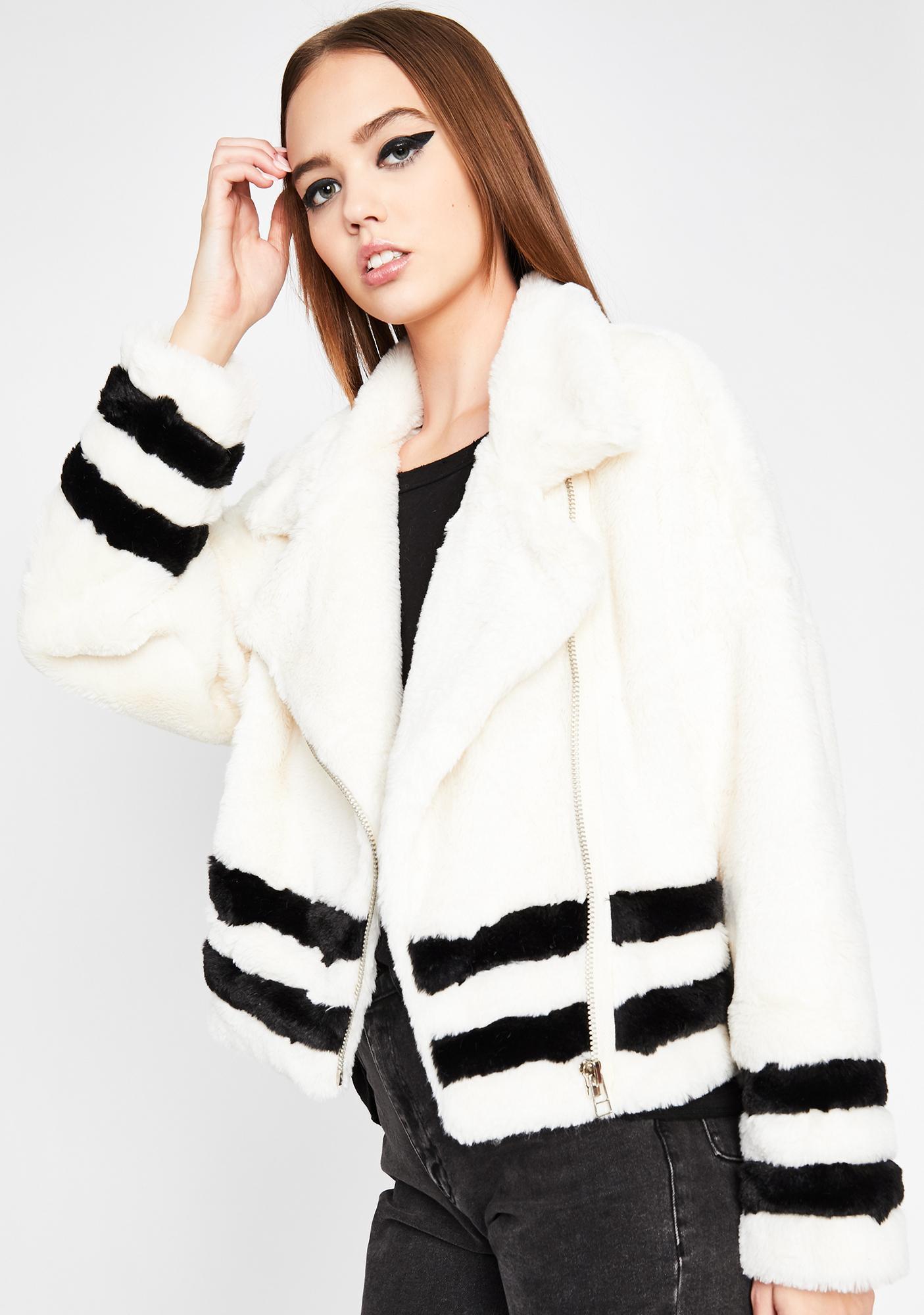 Blanc Double The Trouble Fuzzy Coat