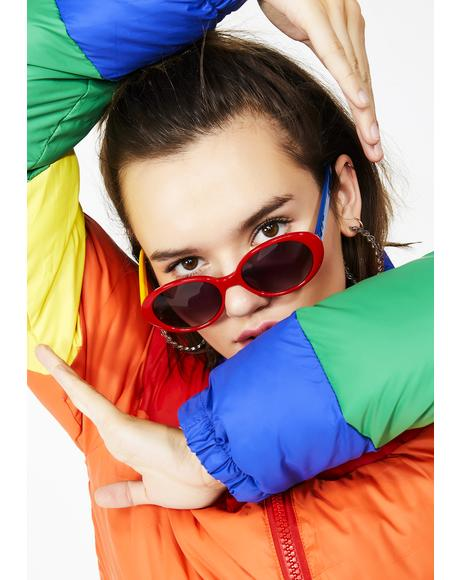 Block Partayyy Colorblock Sunglasses