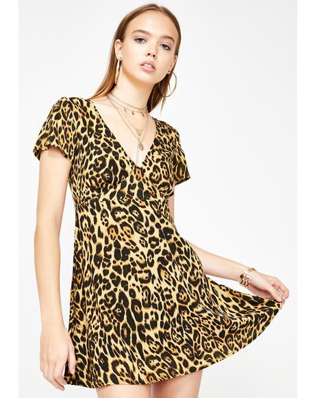 Elara Leopard Dress