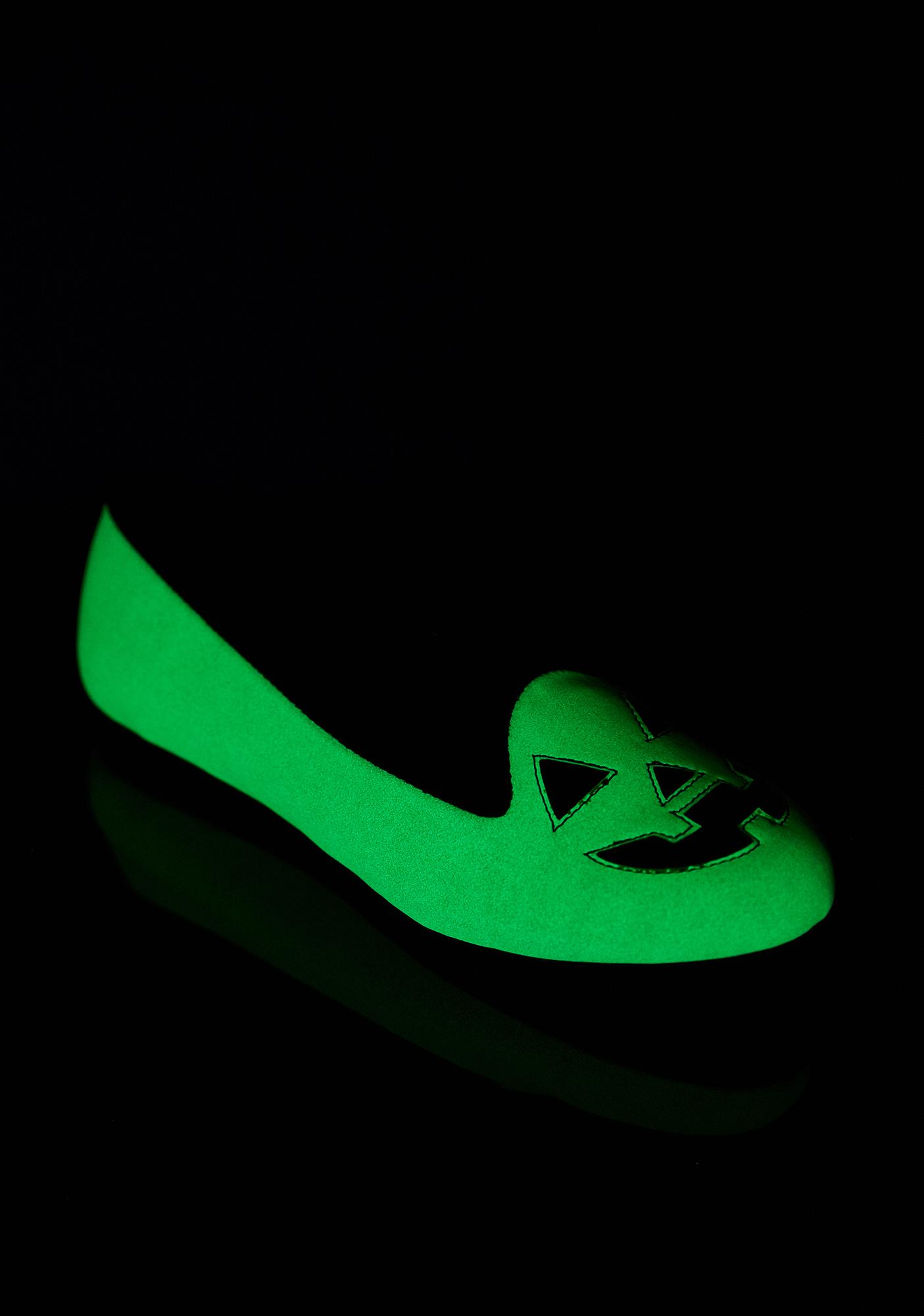 Strange Cvlt Lydiua Jack Glow In The Dark Flats