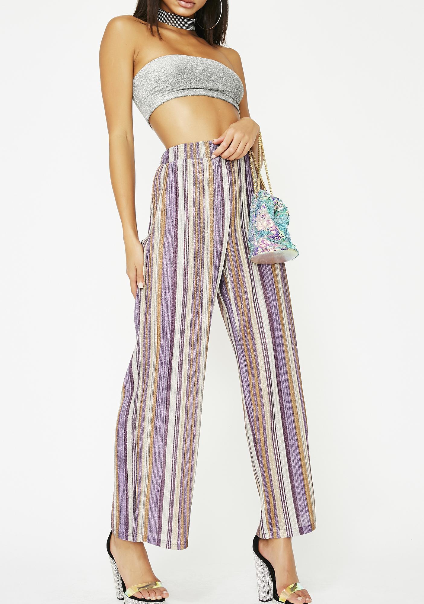 High Beams Striped Pants