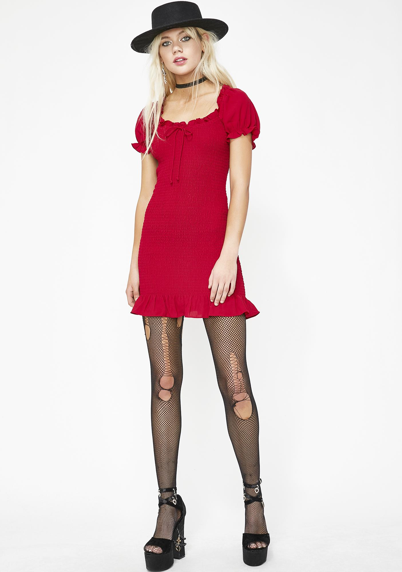 Scarlet Indie Rokker Ruched Dress