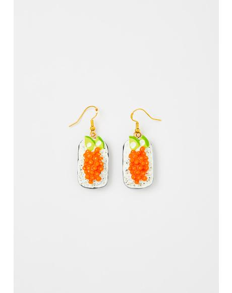 Tasty Roll Sushi Earrings