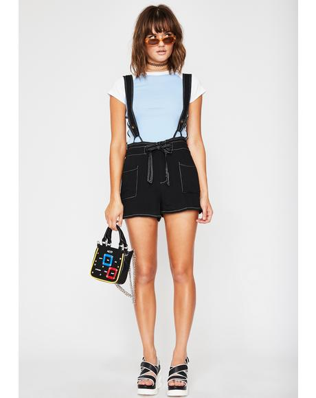 Cutie Traits Suspender Shorts