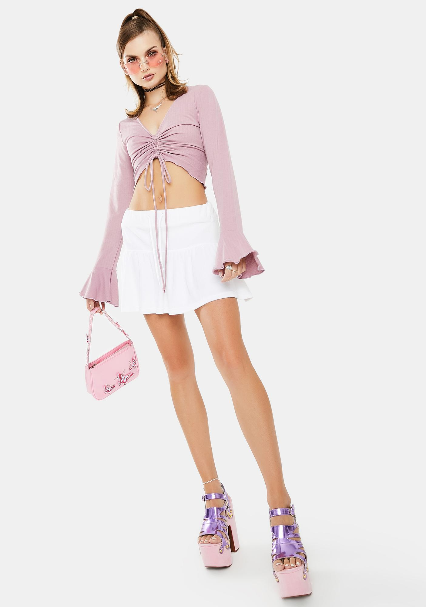 Bailey Rose Ruched Long Sleeve Top