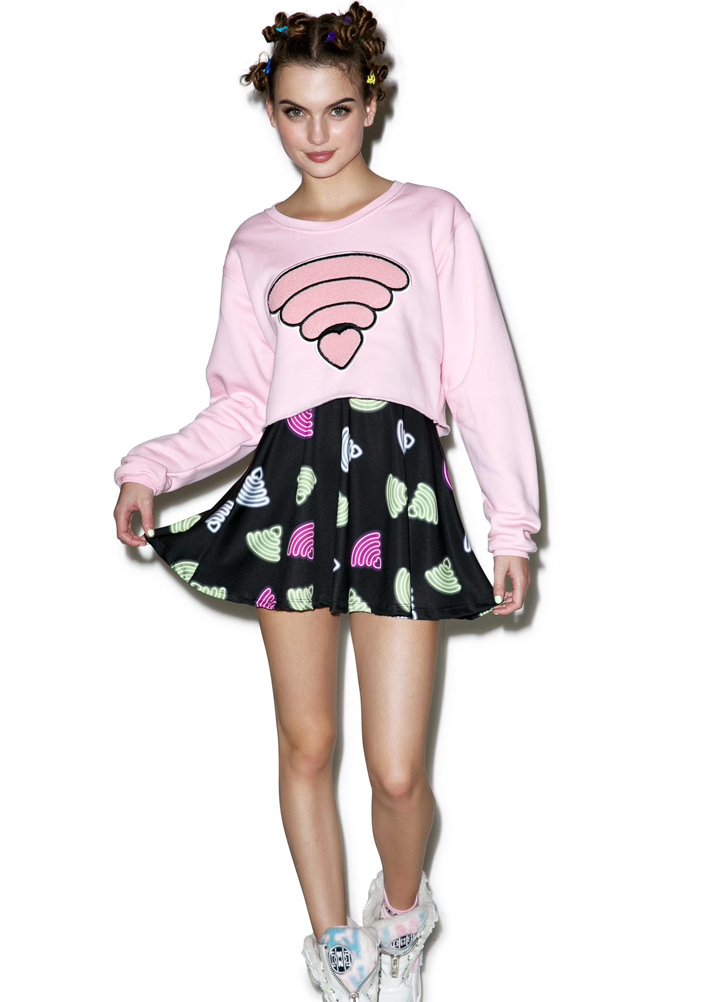 Local Heroes Wifi Cropped Sweatshirt