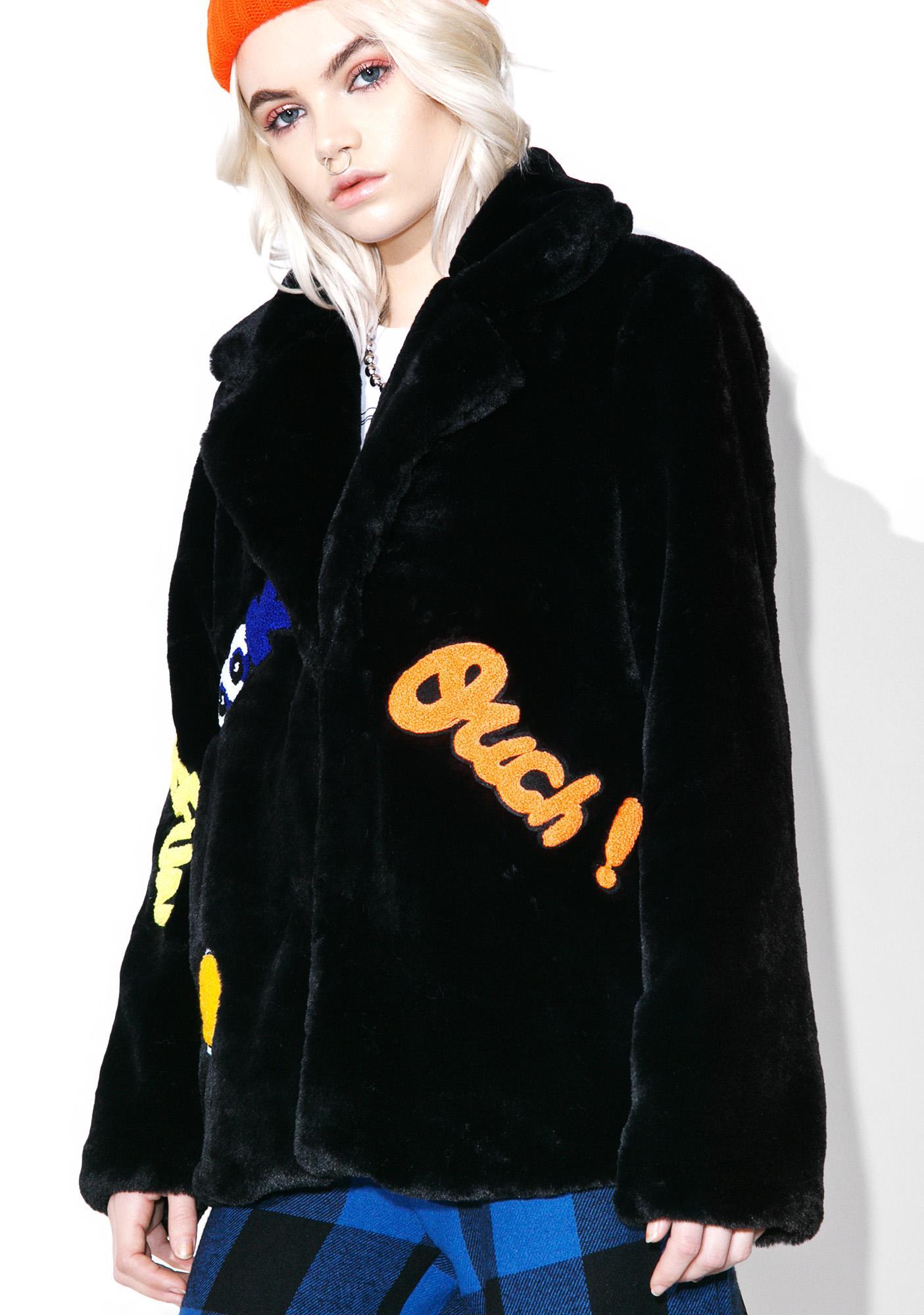 Blackout Put 'Em Up Faux Fur Coat