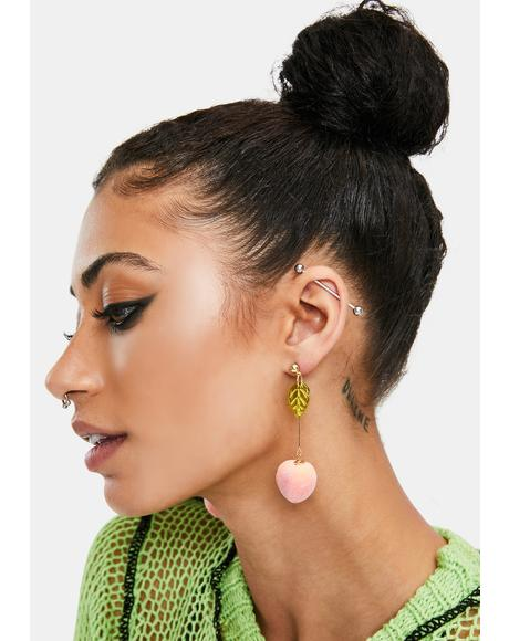 Keep it Peach Drop Earrings