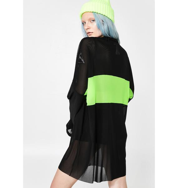 The Ragged Priest Garage Mesh Dress