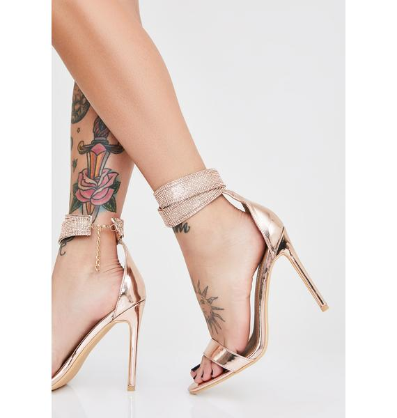 Champagne Wrapped In Bling Stiletto Heels