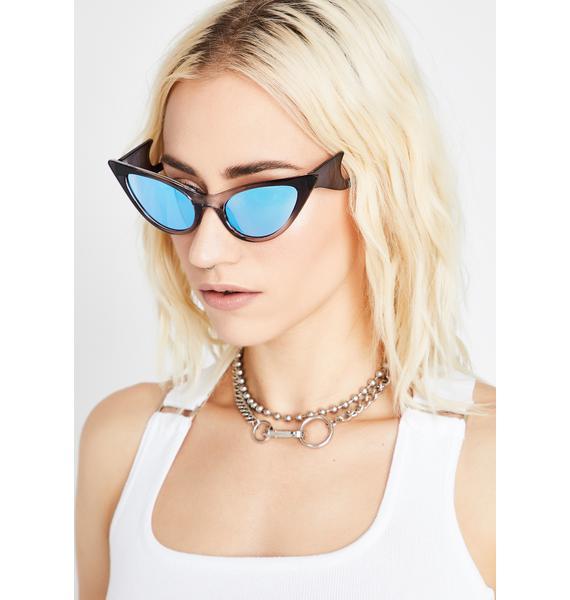 Azure Pinkslip Chick Cat Eye Sunglasses