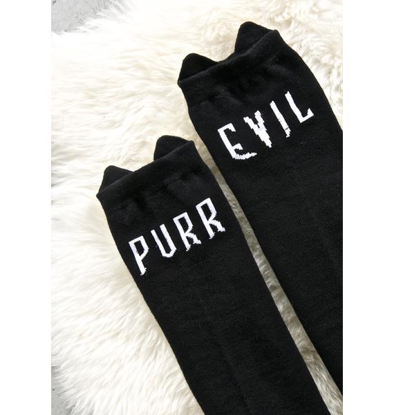 Killstar Purr Evil Socks