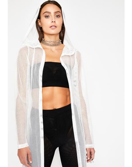 Icy Glam Fusion Sheer Kimono