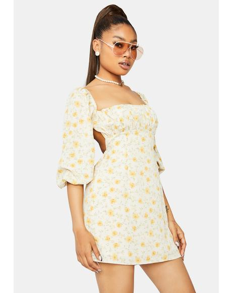 I Need You Floral Mini Dress