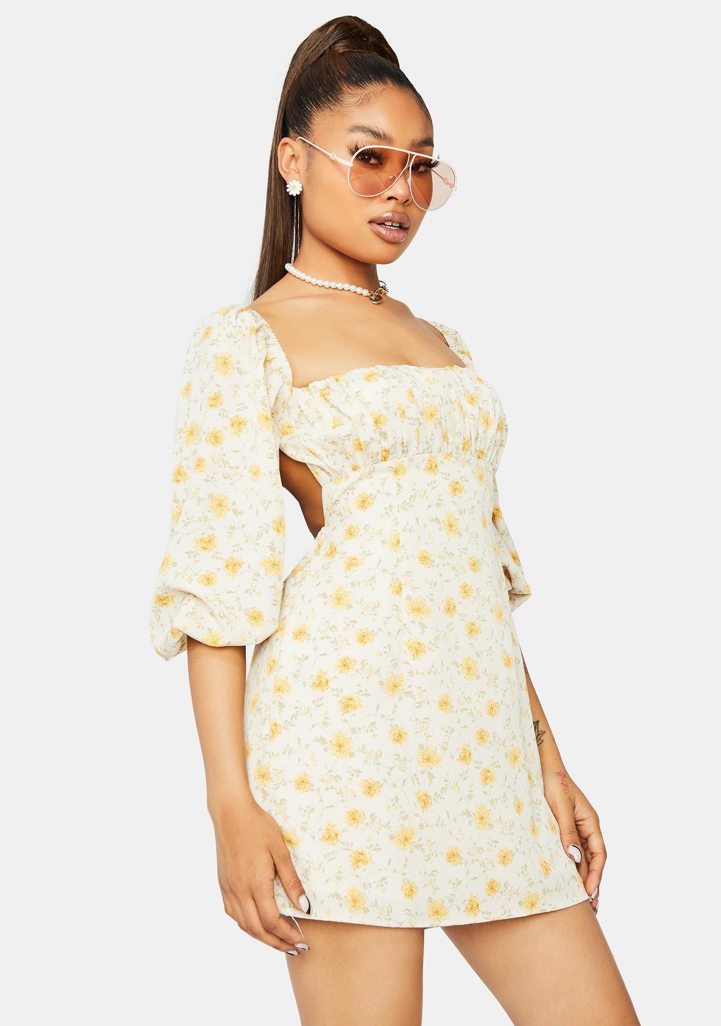 I Need You Floral Mini Dress