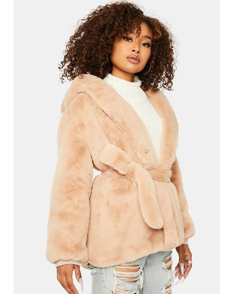 Don't Let Me Go Faux Fur Jacket