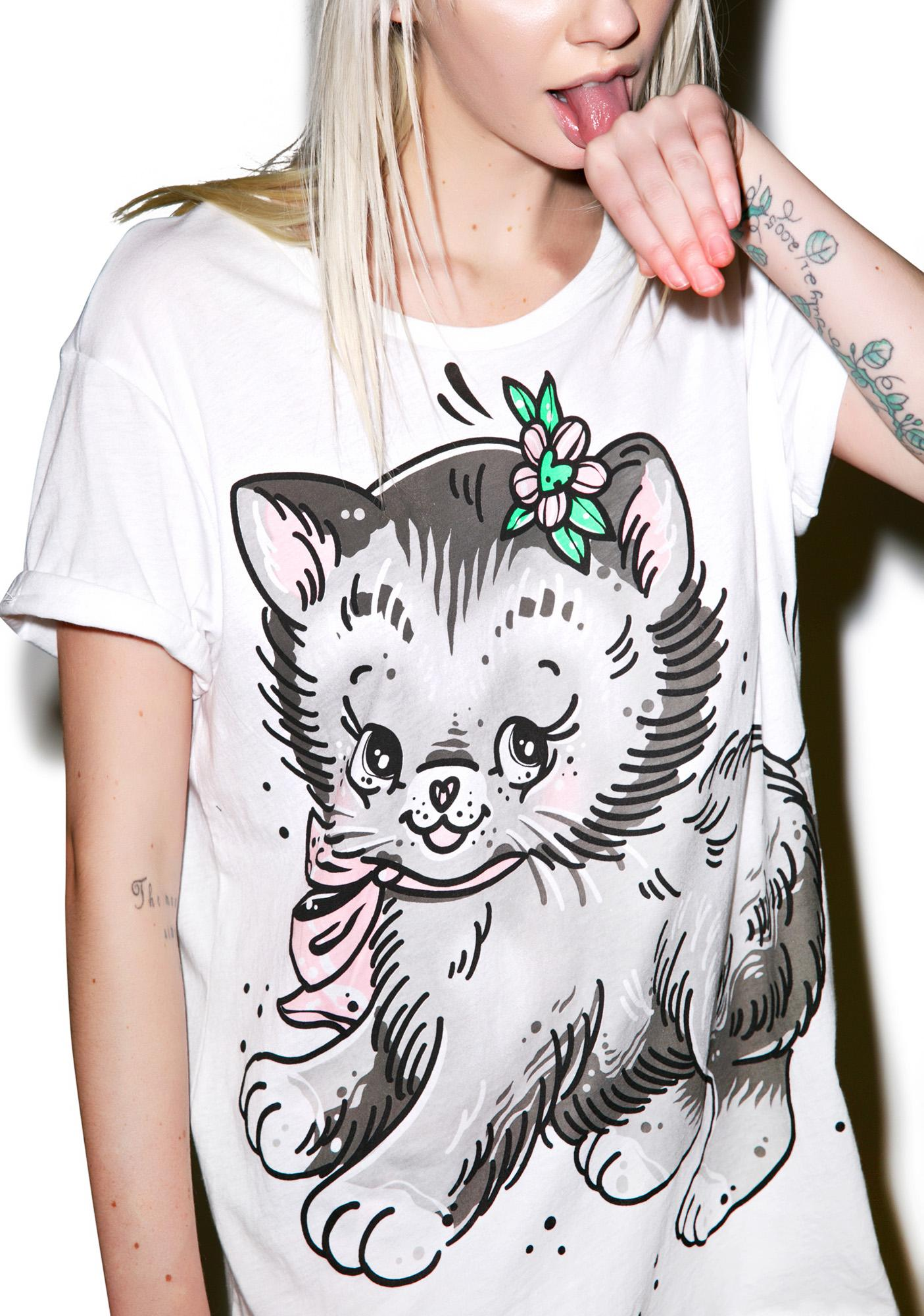 Iron Fist Pussy Cat Boyfriend Tee