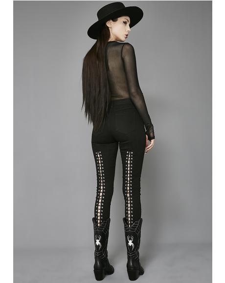 Sinister Lace-Up Jeans