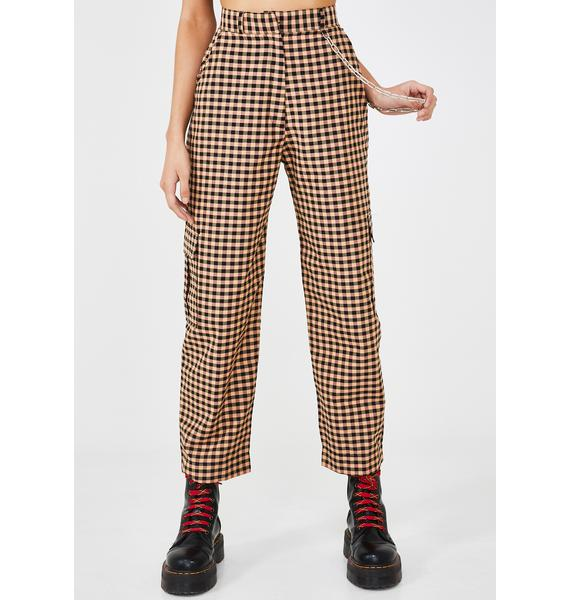 The Ragged Priest Magma Gingham Pants