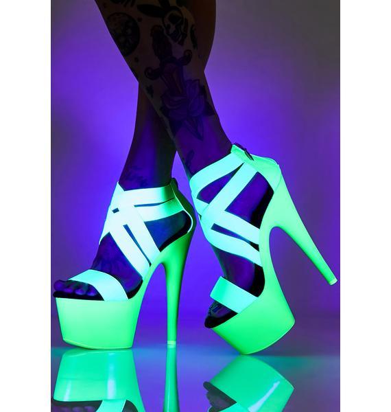 Pleaser Atomic Tease UV Platform Heels