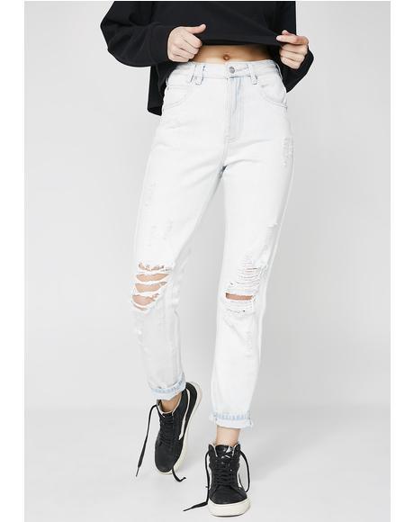 Elaine Stone Age Blue Trashed Jeans