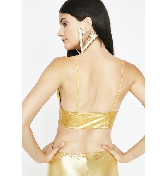 Golden Disco Fever Tank Crop Top
