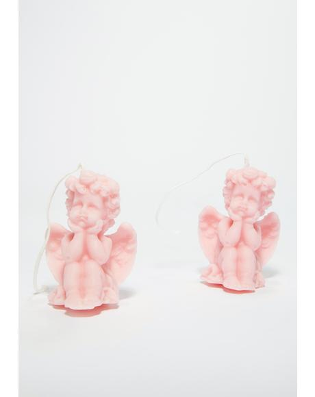 Holy Cuteness Cherub Candle Set