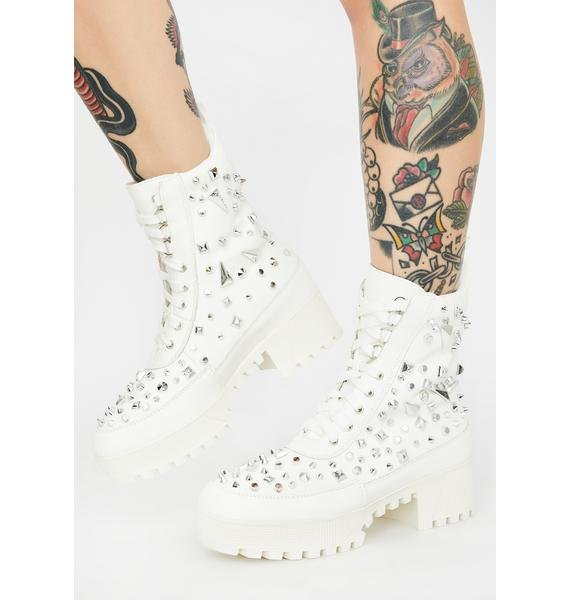 Boo Mind's Made Up Studded Boots