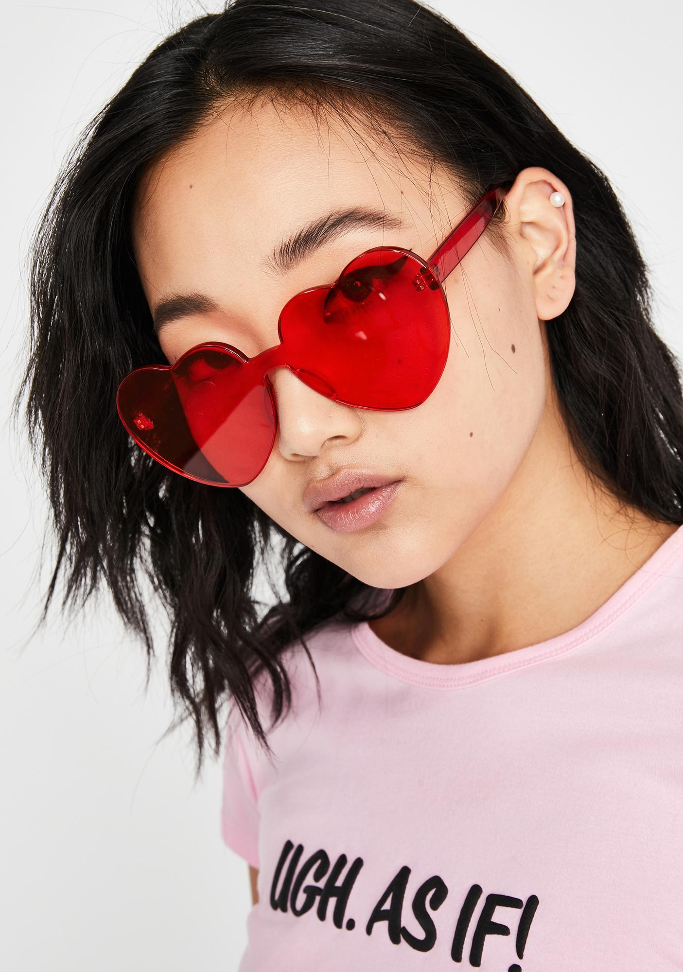 Lova Cleary In Lust Heart Sunglasses
