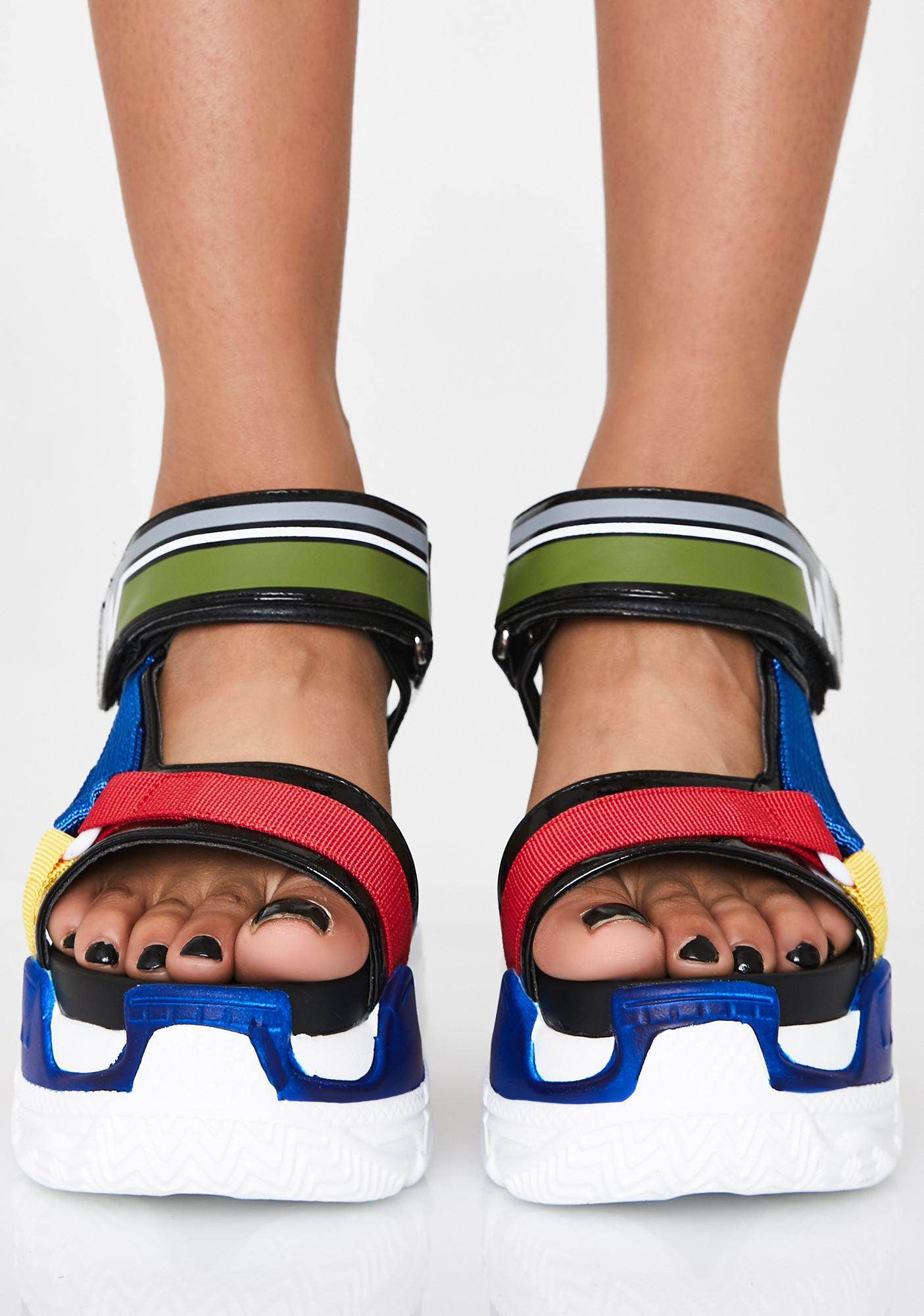 Anthony Wang Pop Life Platform Sandals