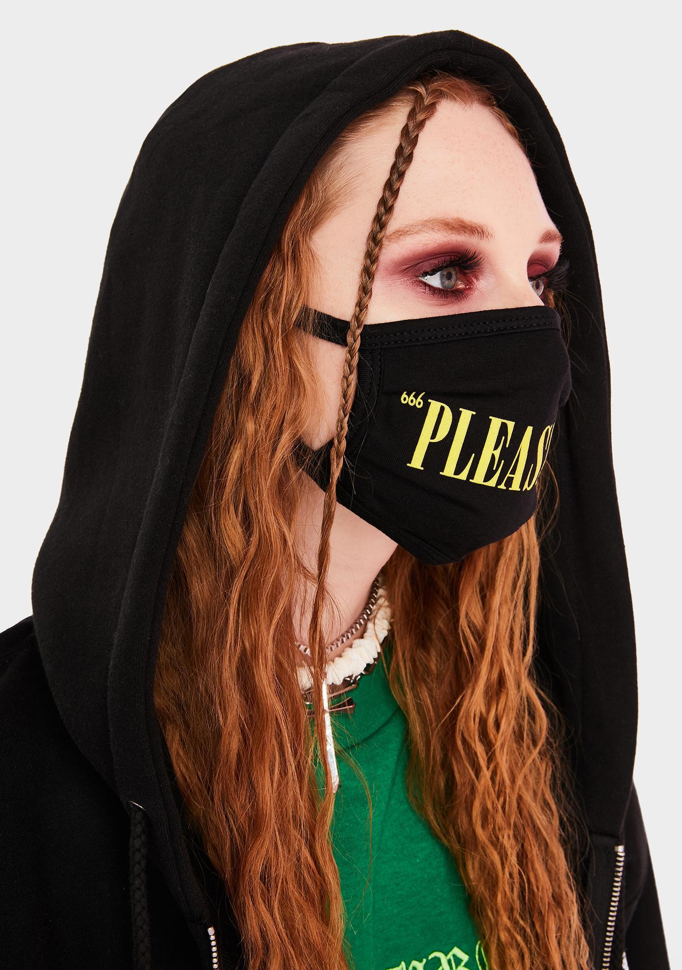 Pleasures Core Logo Face Mask