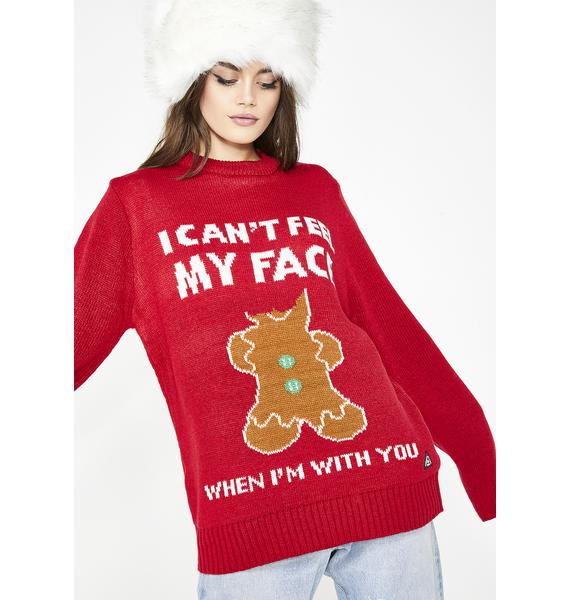 I Can't Feel My Face Sweater