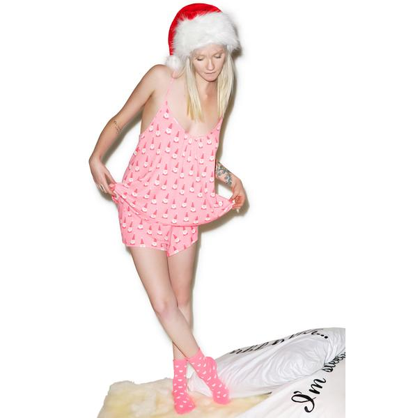 Wildfox Couture Santa Gnomes Day Dream Set