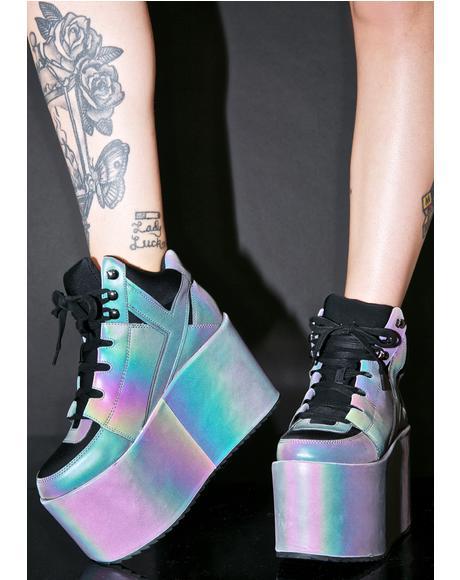 Qozmo Hi Reflective Sneakers