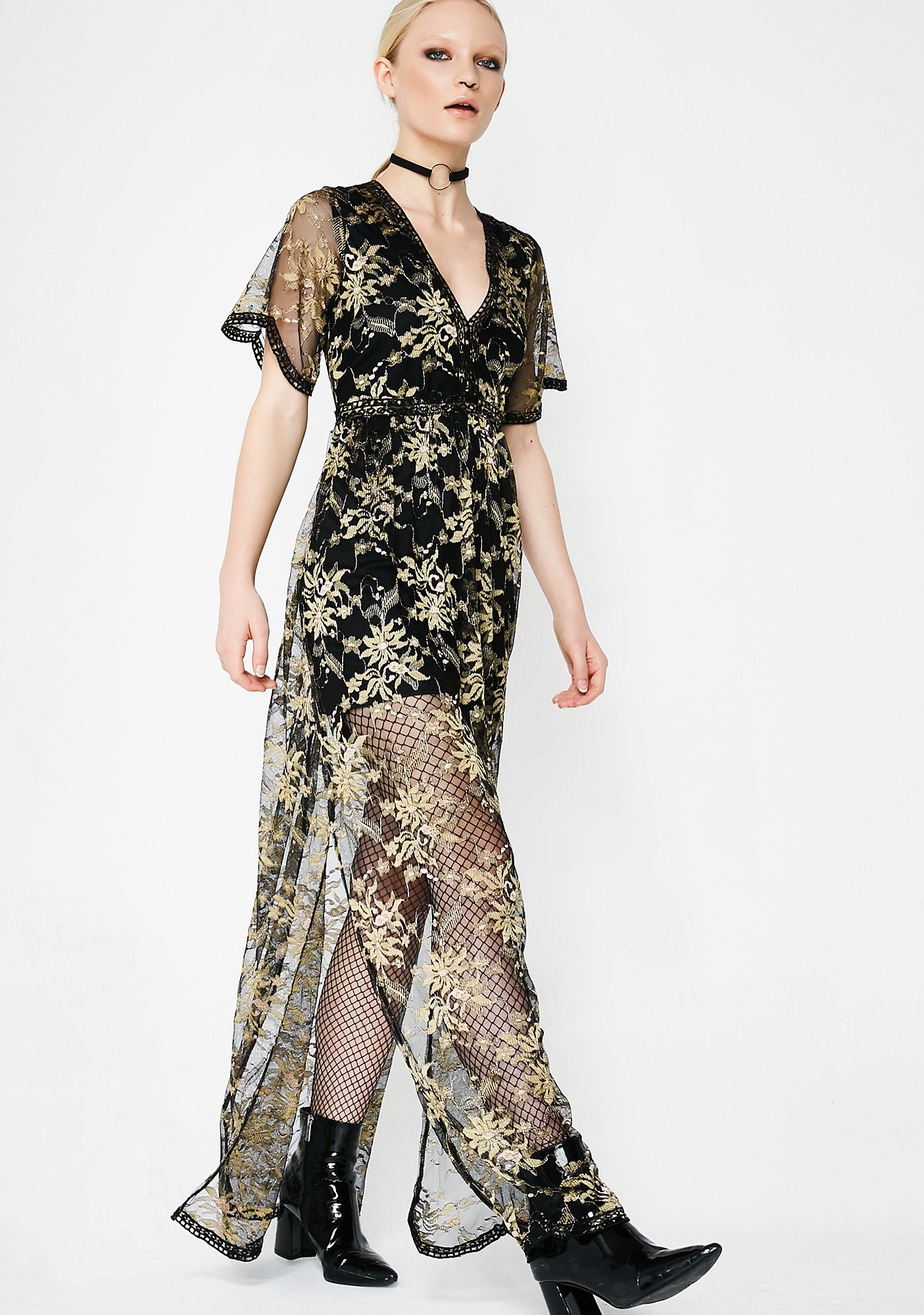 95cdb612fb2d Sheer Floral Black Maxi Dress | Dolls Kill