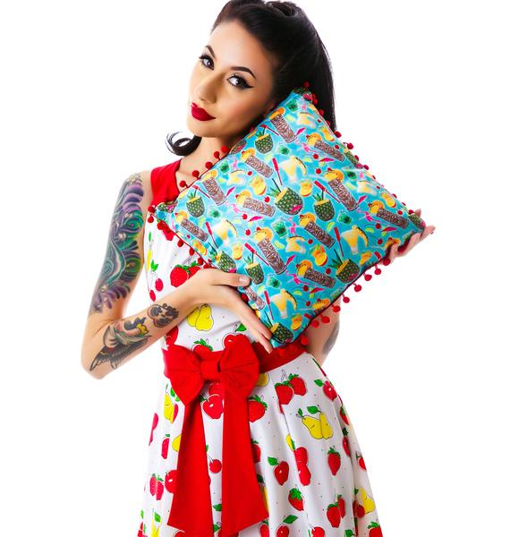Sourpuss Clothing Tropical Drinks Pillow