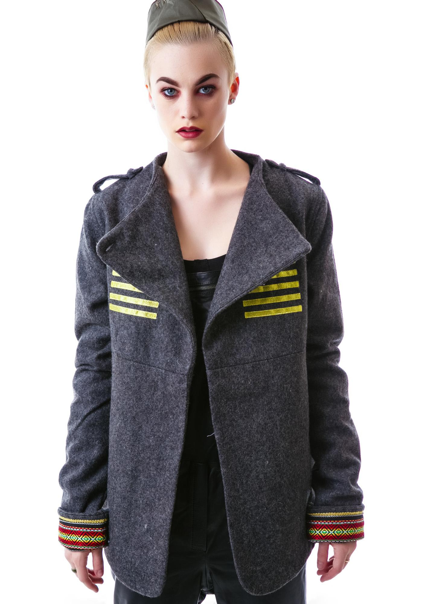 One Teaspoon Grey Ship Military Jacket