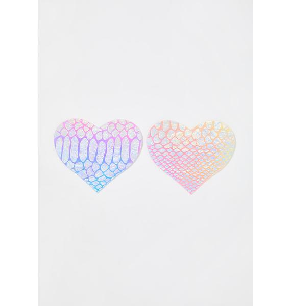 Pastease Iridescent Textured Heart Pasties