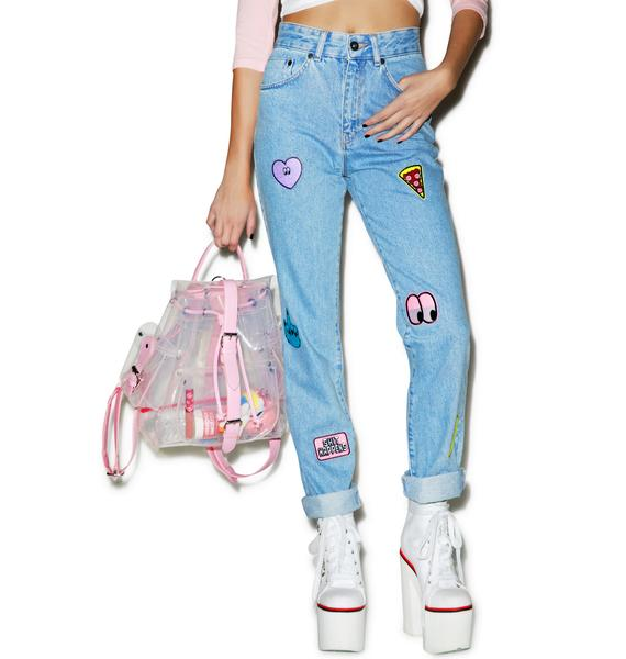 Lazy Oaf Collection Patch Jeans