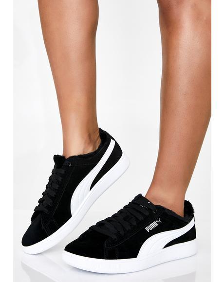 Dark Vikky V2 Fuzzy Sneakers