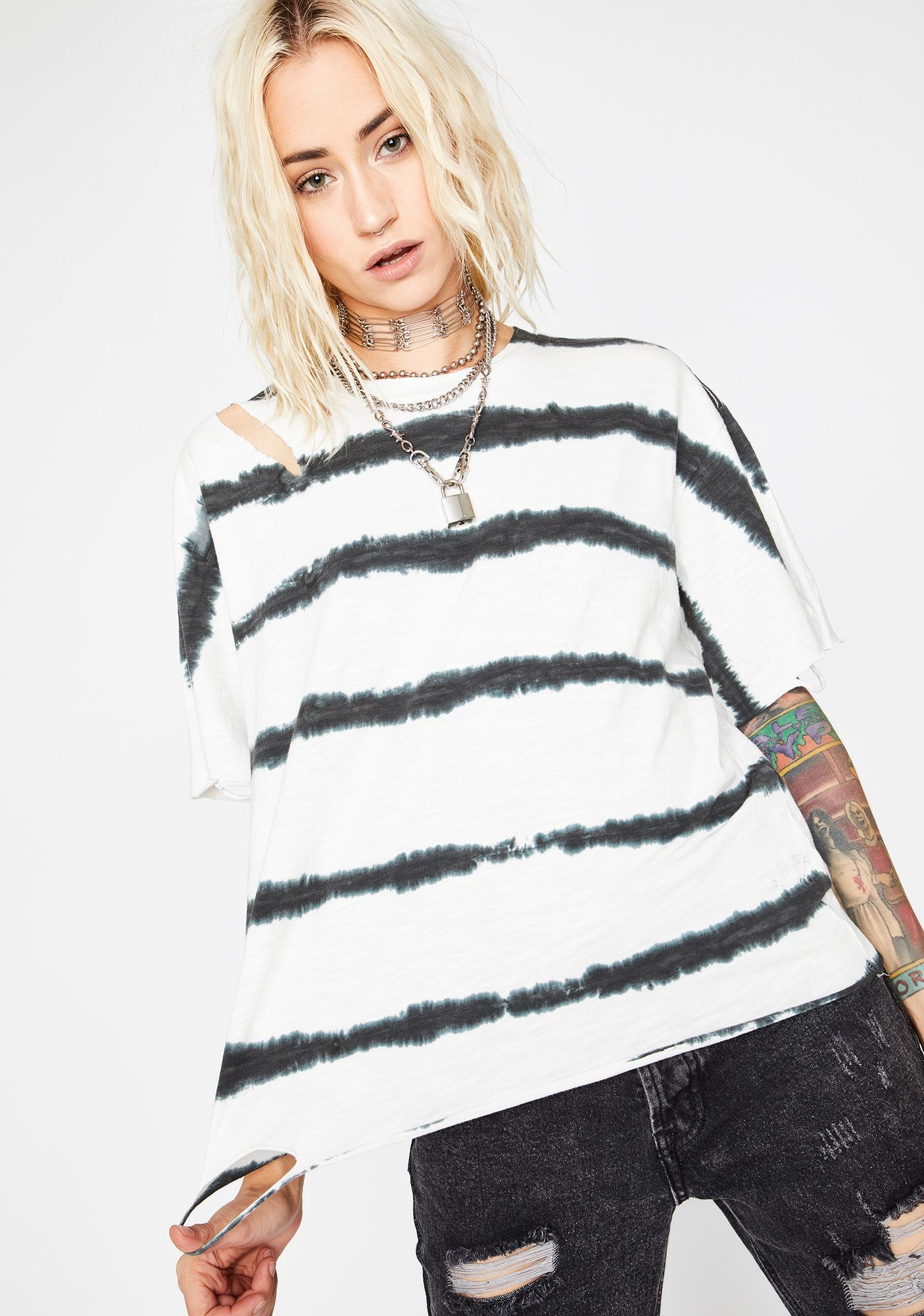 Freeze Blurred Lines Distressed Tee
