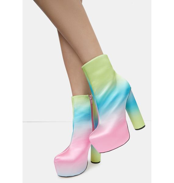Lemon Drop by Privileged Pink Hafida Platform Boots