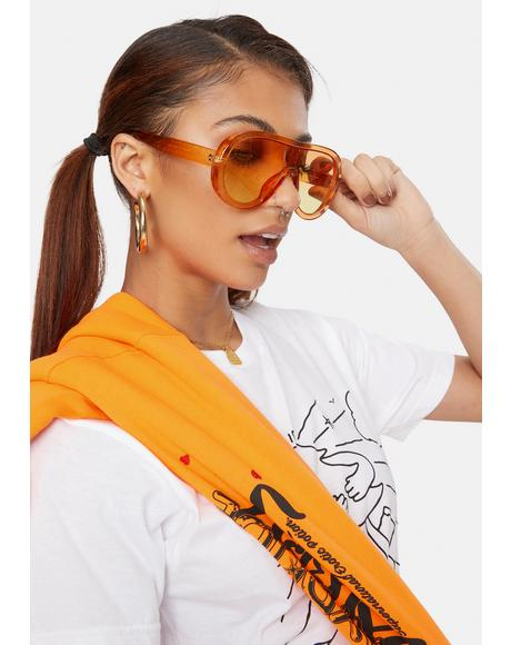 Stars in Our Eyes Oversized Sunglasses
