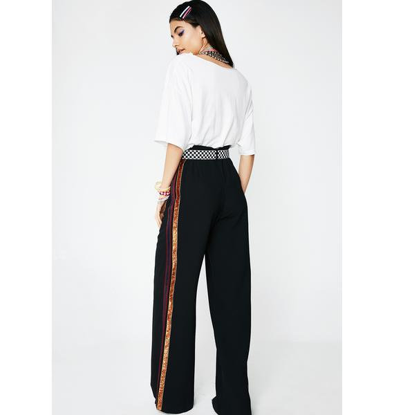 Off The Bench Striped Pants