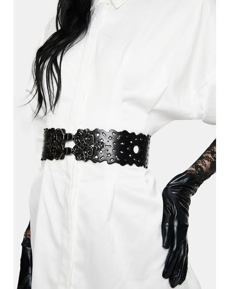 Lost In The Labyrinth Vegan Leather Waist Belt