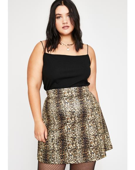 Fierce Savannah Sav Leopard Skirt