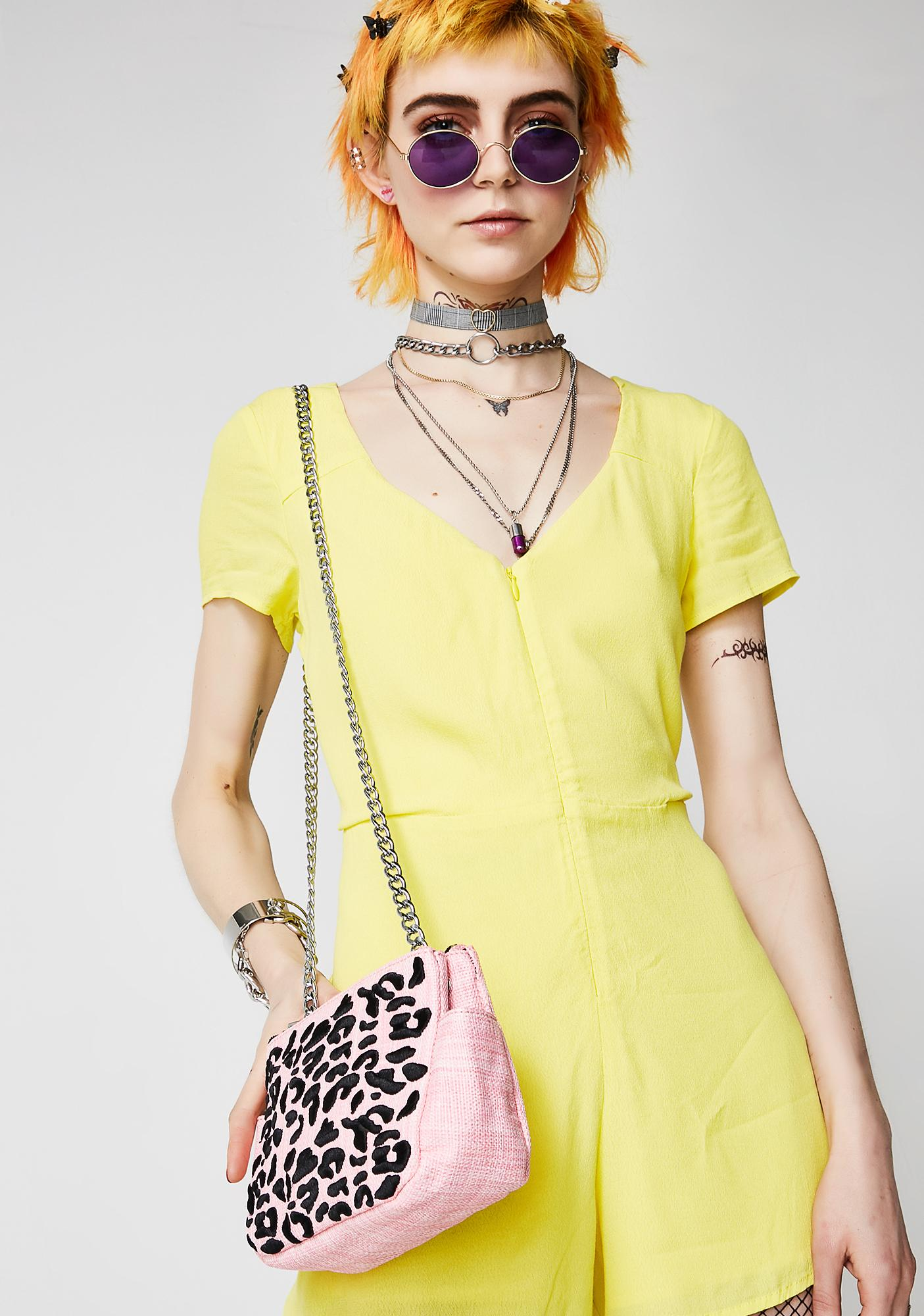 Skinnydip Leopard Picnic Crossbody Bag