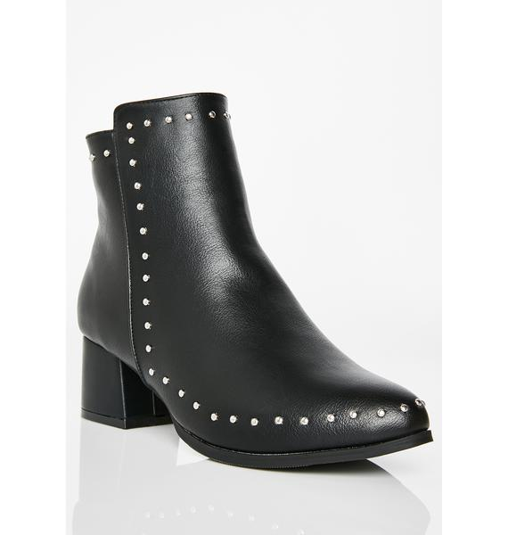 Above It Studded Booties