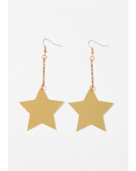 Disco Star Drop Earrings